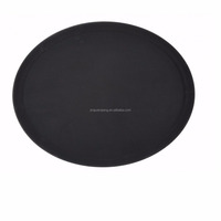 Hot sale non slip round or rectangular or oval restackable cheap PP serving food tray Fibreglass tray