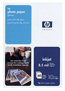HP Photo Paper, Glossy (C7893A, 4x6, 60 Sheets)