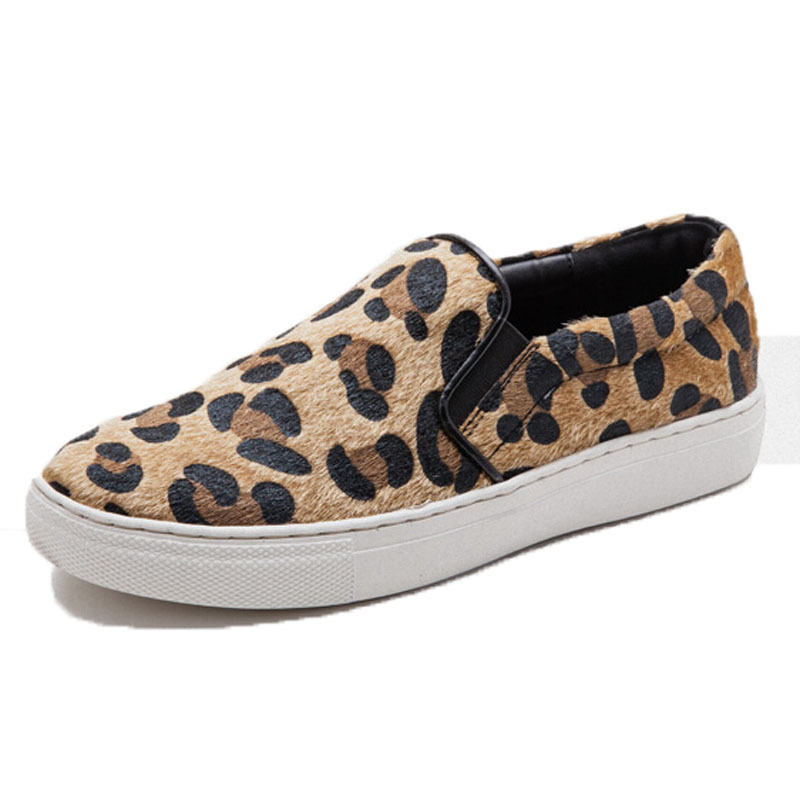 a3820dc98d7a Get Quotations · 2015 hot sale slip-on women loafers Spring and summer flat  leopard Platform shoes woman