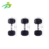 High quality rubber coated chrome dumbbell set weights
