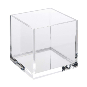 "Factory Direct Selling Cosmetic 5 Sides 3.9"" H x 3.9"" W x 3.9"" D Clear Acrylic Display Cube"