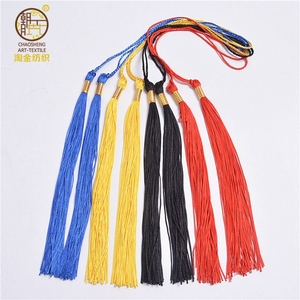 Graduation Cap Tassel,Red,Black,Blue and Yellow Color