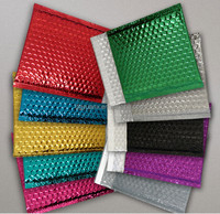 Coloured Metallic Shiny Foil Lined Bubble Padded Protective Envelope