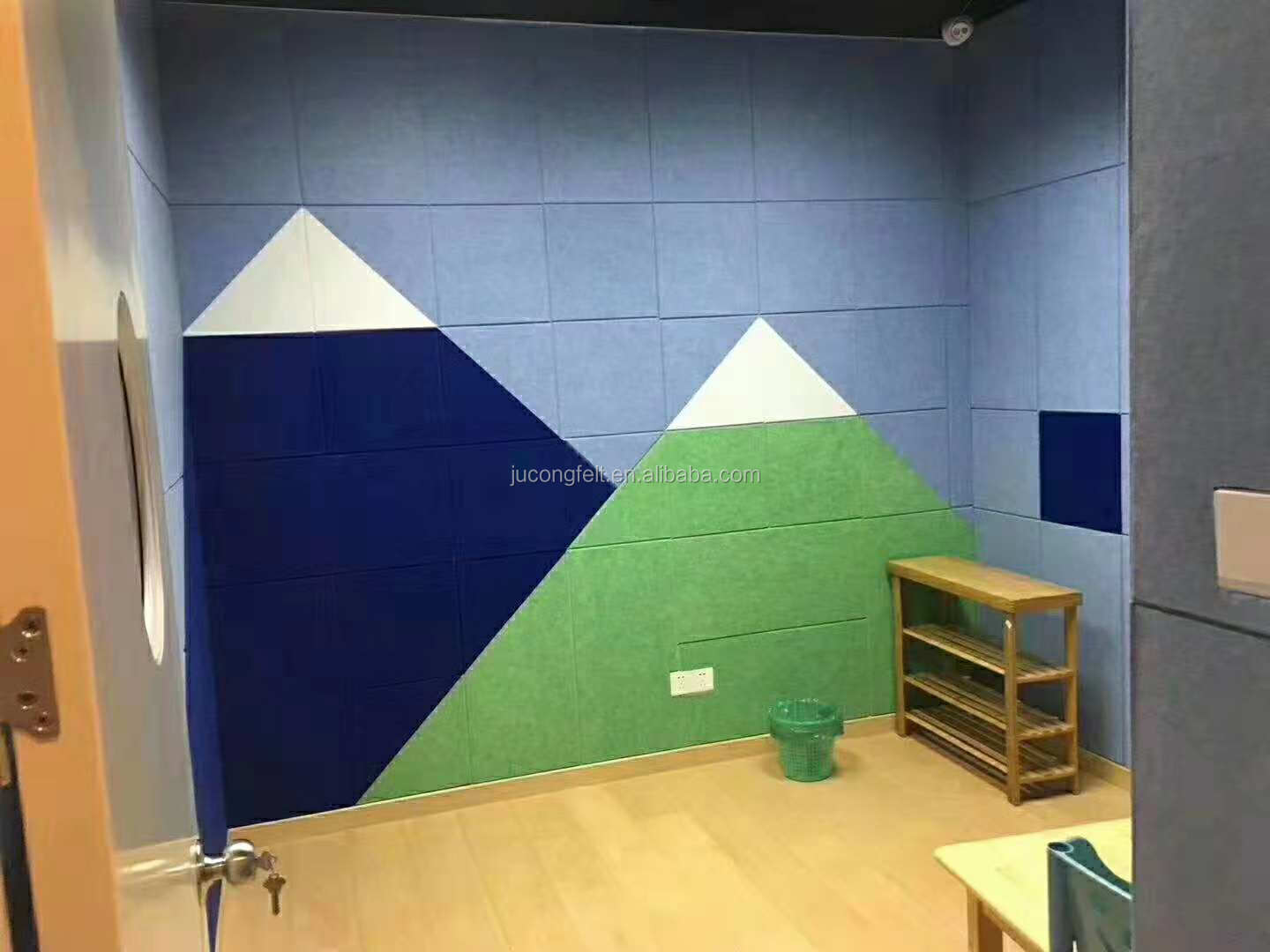 Acoustic Wall Panel Polyester Fiber Sound Absorbing Board