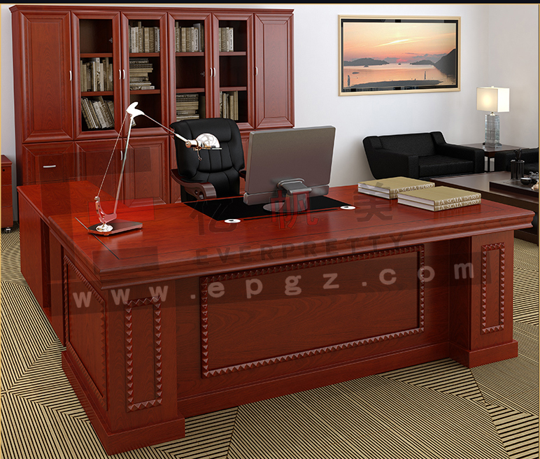 Prinl Office Desk With Side Table
