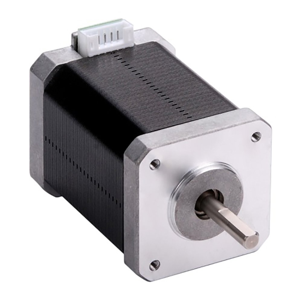 MOONS' NEMA17 Stepper Motor 3D Printer 0.48Nm(68oz-in) 1A 2Phase 1.8 degree Stepper Motor 39.8mm(1.57in.) Smooth Stepper Motor (Stepper Motor Cable00723 include, model MS17HD2P4100)