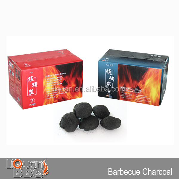 3KG Instant Light BBQ Charcoal, Barbecue Charcoal Briquette Or Powder, Easy Light Charcoal Bags