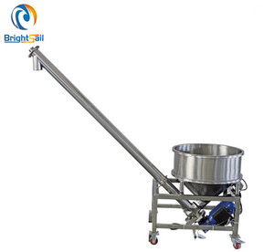 Automatic flour powder auger screw feeder machine with hopper