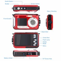 Max 24mp/20mp Waterproof Digital Camera With Dual Display ...