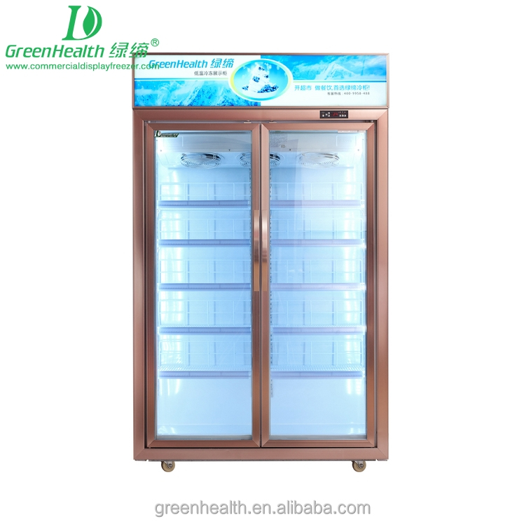Upright Frozen Display Cabinet Used Commercial R404a Gas Refrigerator for Sale