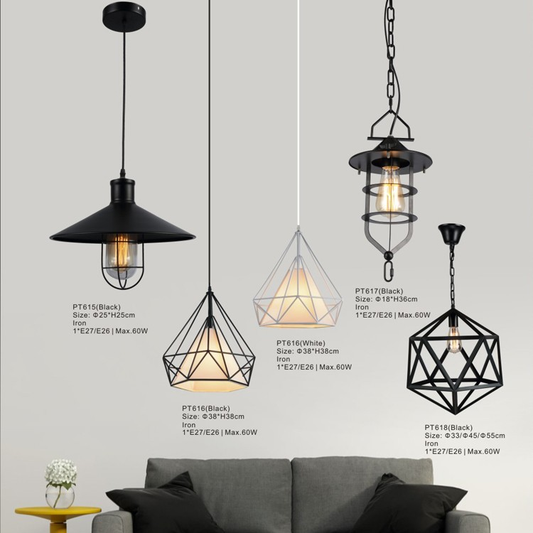 Lámpara colgante de aluminio de madera contemporánea e27, lámpara de ...