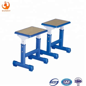 Factory supply small volume portable durable and useful school furniture tables double seat desk chair parts