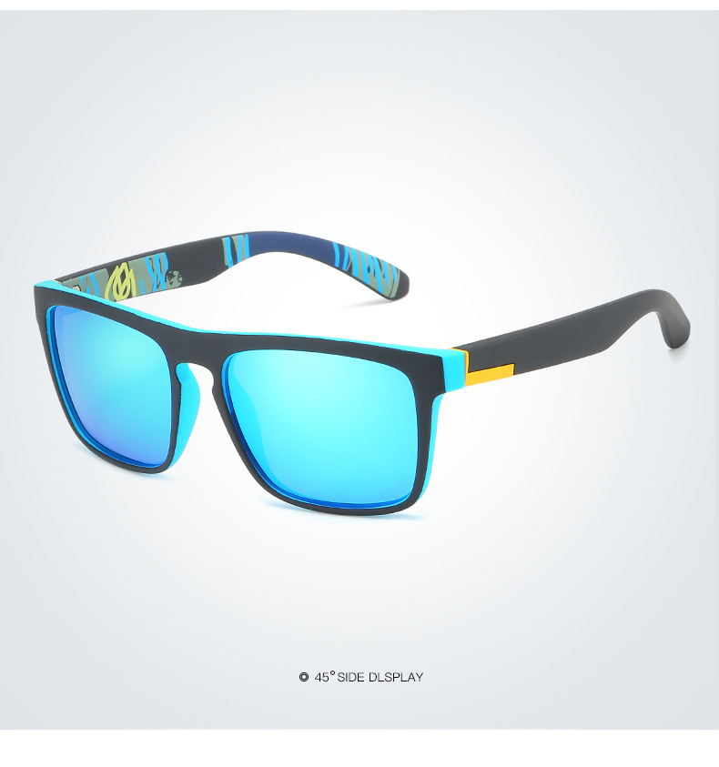 2019 Party UV400 Polarized Big Frame Acetate Eyewear Custom Logo Printing PC Colorful Lens Sunglasses