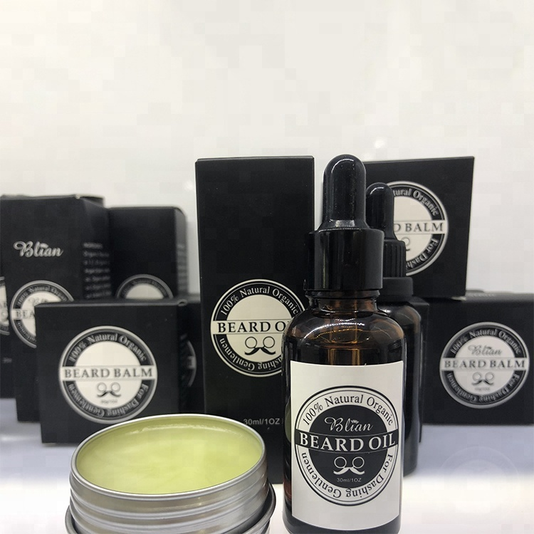Private Label Men Beard Grooming Kit with Beard Brush and Beard Oil
