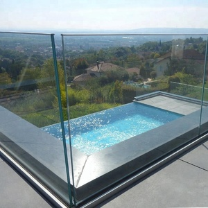 Clear Flat Laminated Tempered Glass Fence Panels