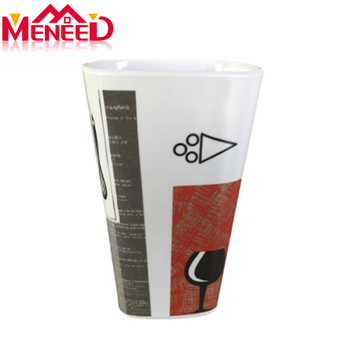 30% or 100% melamine reusable coffee tumbler cups