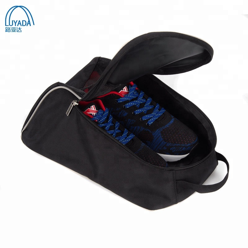 Hotselling chaussures sac 1680D polyester sac à bottes noir chaussures stockage sac à chaussures pour hommes