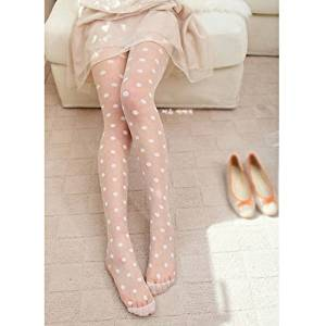 d5ce670392b HuaYang Sexy sheer Lace Big dot Pantyhose Socks Stockings Tights Dot  Leggings Slim BW(White