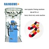 most popular firming machines RB-6FTP-4.5 heavy thick terry socks knitting machinery with prices