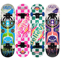wholesale cheapest adult wood complete custom double kick skateboard