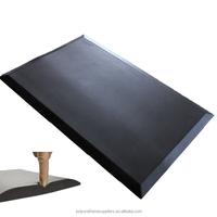 Customize logo PU foam rubber anti fatigue floor mat anti slip standing desk mat