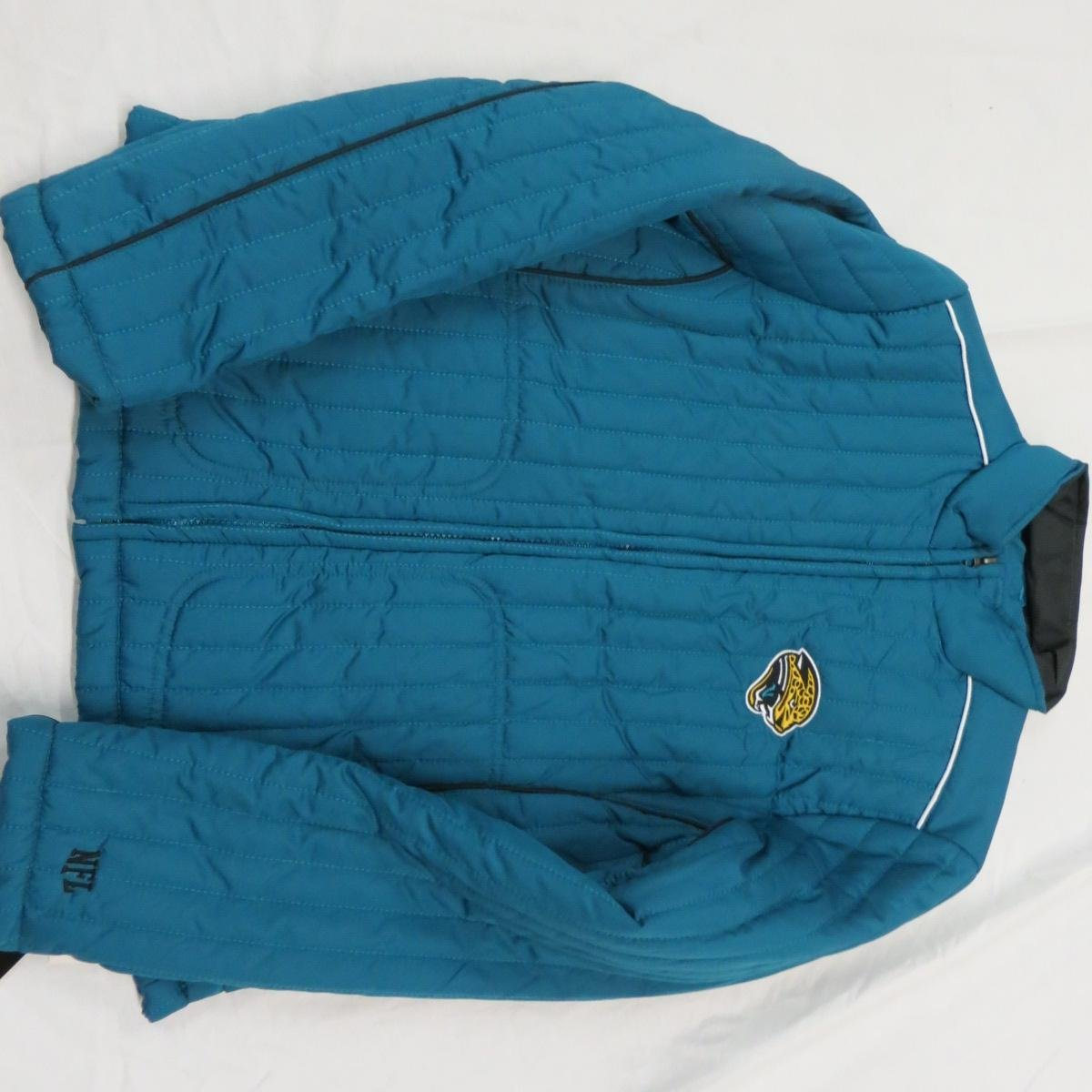 Jacksonville Jaguars Womens Small through 2X-Large Blue Lined Quilted Jacket AJJS 16