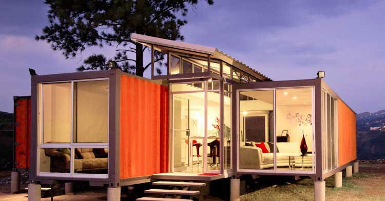 American Prefab Homes 40ft Container House Sips House China Supplier