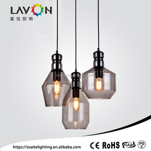 Aisle luminaire E27 3 light grey different glasses suits pendant light