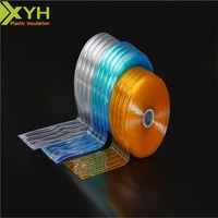 High quality transparent soft door flexible pvc strip/Non-stripe smooth surface flexible plastic pvc curtain / roll