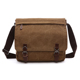 custom shoulder laptop blank leather trim canvas messenger bag with bottle holder for man