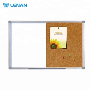 12 mm aluminium frame 12 mm ABS corners cork board half white board half cork combination board