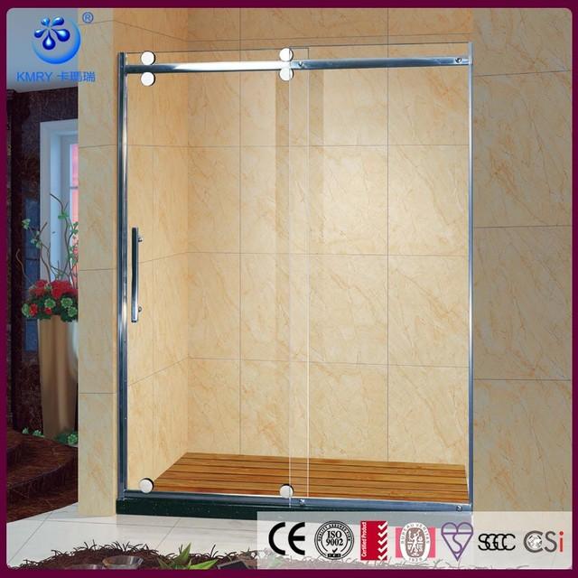 Safe Glass Shower Panel Wall/ Stainless Steel Glass Two Piece Fiberglass  Shower Stall KD5113