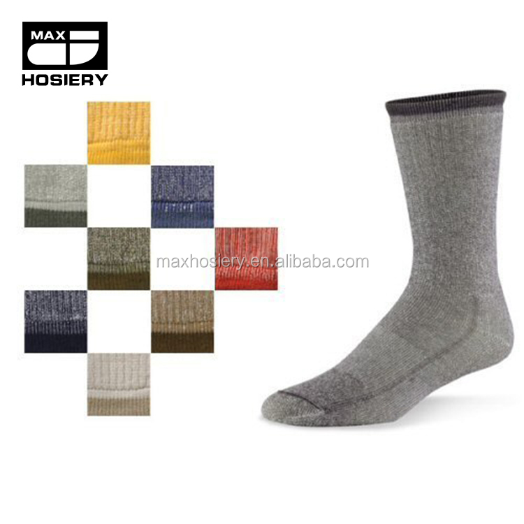 Wholesale Men's Merino Wool Comfort Hiker mid-weight Crew Length smart wool socks