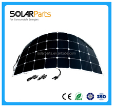 DC 12V roof solar panel PV solar panel 100w for yatch ,RV or build your own solar home system