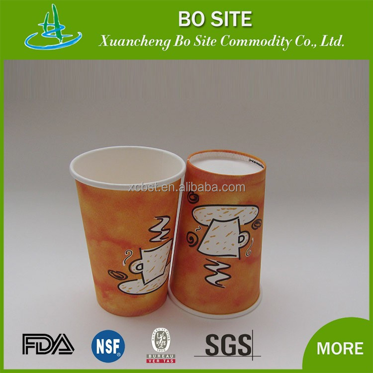 wholesale china Disposable Wheat Straw Paper Cup