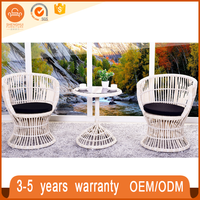 Outdoor Antique Cafe Shop Woven French Bistro Rattan Chairs For Sale