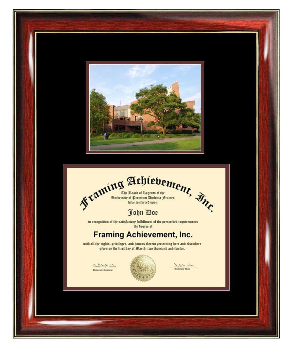 Adelphi University Diploma Frame - Adelphi College Graduation Degree Frame - Matted Campus College Photo Graduation Certificate Plaque University Framing Graduate Gift Collegiate