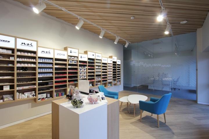 Nail Beauty Tools Retail Store Interior Design With Office Furniture   Buy  Nail Polish Display Case,Wall Mounted Wooden Display Cabinet,Nail Salon ...