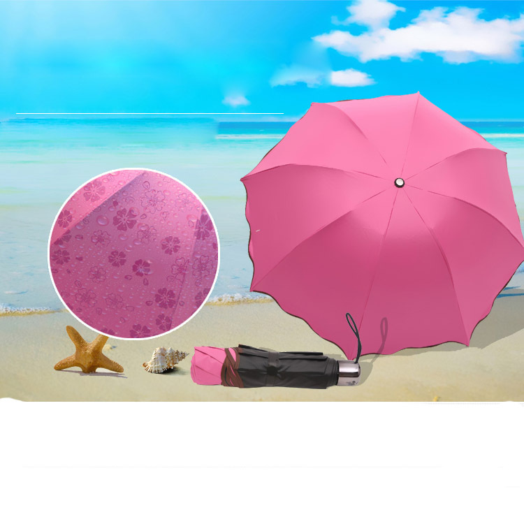 Нет винил лето женщин зонтик три раскладной зонтик крем от загара ультрафиолетовый солнца зонтик реклама зонтик подарки