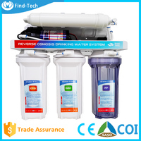 Direct drinking 6 stage water filter RO membrane with UF/reverse osmosis system with pressure pump/PP+GAC+CTO+RO+T33+UF