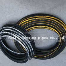 single wire braid/textile covered hydraulic hose hydraulic hose for gasoline generator spare parts dn6 rubber hydraulic hose r2