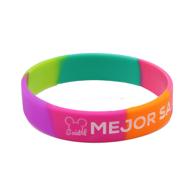 product sleek silicon bracelets layer wristbands dual bands silicone
