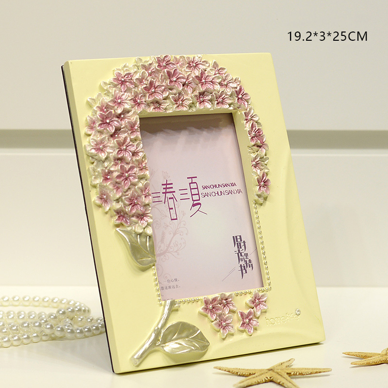 resin decorative wedding 7inch photo frames