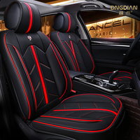 Luxurious 6D Fashion PU Leather Full Set Car Seat Cover for Car Seat Protector with Black with Beige Biue