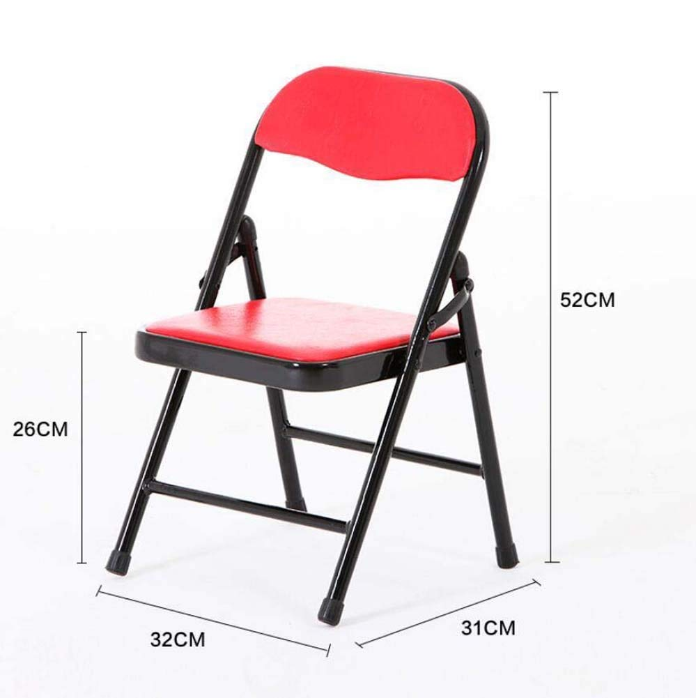 Onfly Children's Folding Chair Stool Portable Folding Back Chair Stool Color Cartoon Kids Chairs Metal Folding Chair Game Chair (Color : 14)
