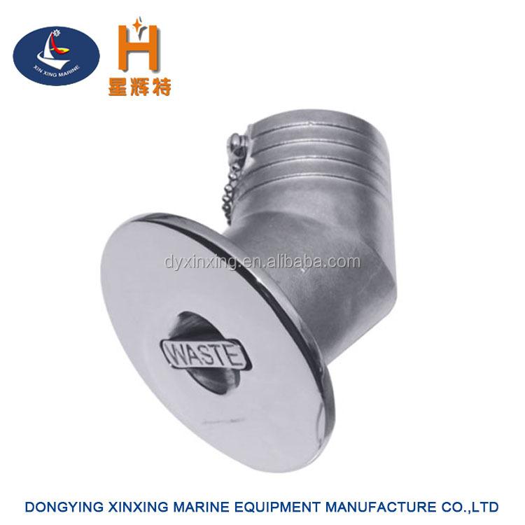 "Boat Deck Fill Fuel Marine 316 Stainless Steel Filler Keyless Wide Cap 2/"""