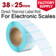 Direct thermal label electronic scales price label roll self adhesive paper use in supermarket