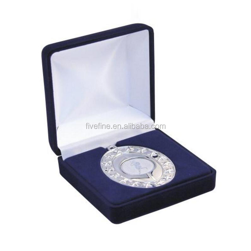 High quality medal gift packaging box with velvet