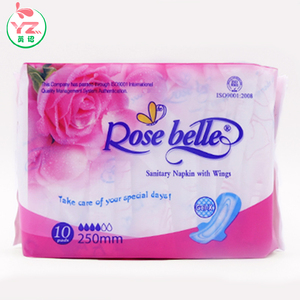 100% cotton disposable soft woman sanitary napkin/pad make wholesale china