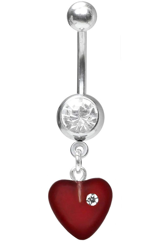 White Juliet Heart Nipple Ring-Captive Ring-14g-1//2-Czech Glass Heart Dangle Cartilage Earring Hoop Body Jewelry